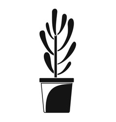 plant tree cactus icon simple style vector image