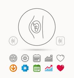 Pregnancy icon medical genecology sign vector