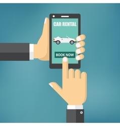 renting a car vector image