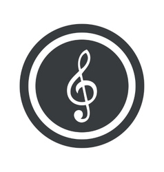 Round black music sign vector image