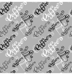 Seamless Pattern with Cups of Coffee vector