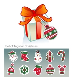 Set of Christmas tags vector