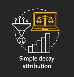 Simply decay attribution chalk concept icon vector