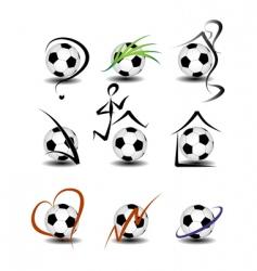 soccer football set vector image
