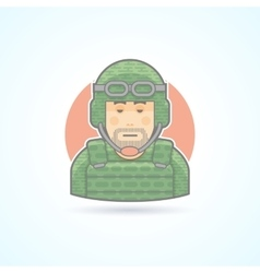 Soldier military man icon Avatar and person vector