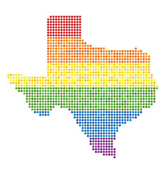 Spectrum dotted lgbt texas map vector