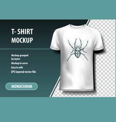 Spider t-shirt template fully editable vector
