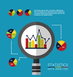 statistics data analysis business vector image