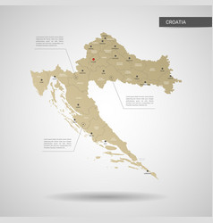 Stylized croatia map vector