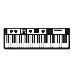 synthesizer icon isolated on white vector image