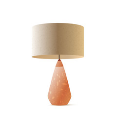 Table lamp realistic 3d color vector
