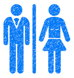 Toilet persons grunge icon vector