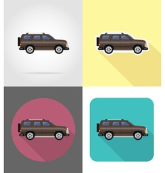 Transport flat icons 49 vector