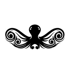 tribal octopus vector image
