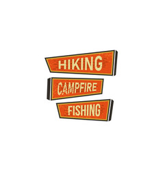 vintage hand drawn camping signs travel badges vector image
