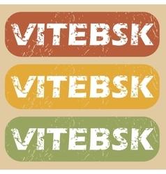 Vintage Vitebsk stamp set vector image