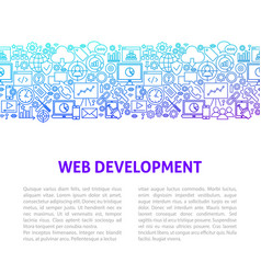 Web development line design template vector