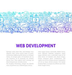 web development line design template vector image