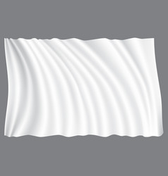 white fabric wave on gray background vector image