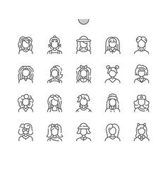 Woman avatar well-crafted pixel perfect vector