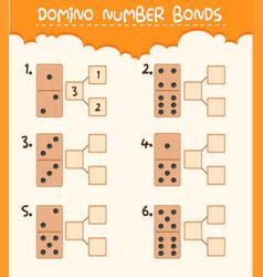 wooden domino number bond vector image