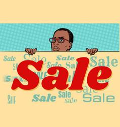 african businessman sale poster background vector image vector image