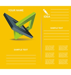 Brochure design with orthogonal rhomb symbols vector image