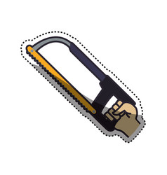 hand coping saw carpentry tool vector image