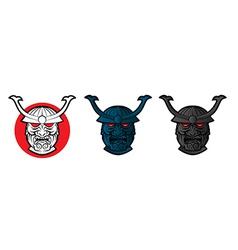Samurai Face vector image
