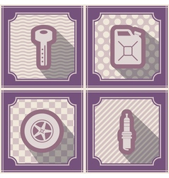 Seamless background with cars icons vector image