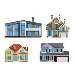 suburban family house set vector image