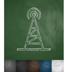 Tv tower icon vector