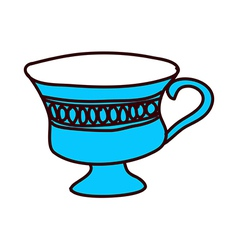 A cup is placed vector image vector image