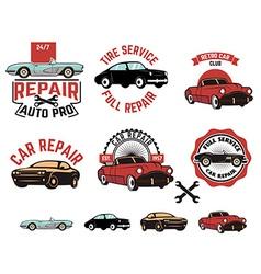Car repair service labels vector image