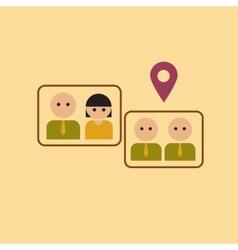 flat icon on stylish background gay marriage vector image