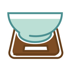 scales with bowl vector image vector image