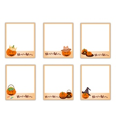 Set of Photos with Halloween Evil and Item vector image