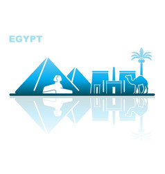 attractions egypt abstract landscape vector image