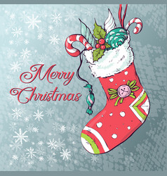 christmas socks with gifts vector image