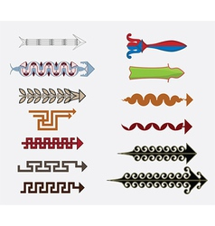 Greek arrows vector image vector image