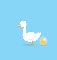 goose and golden egg investment and business vector image vector image