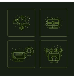 Set of pictogramm of computer symbols vector image
