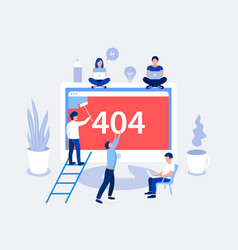 404 error page design concept vector