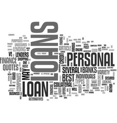 A guide to personal loans text word cloud concept vector