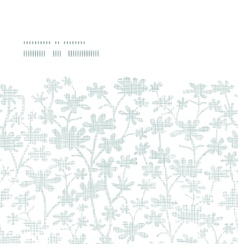 abstract gray bush leaves textile horizontal frame vector image