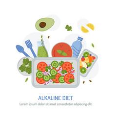 Alkaline diet concept vector
