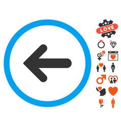 arrow left icon with lovely bonus vector image