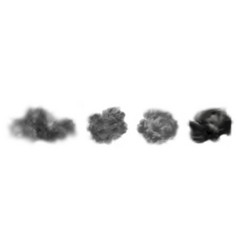 ash clouds gray realistic smoke isolated vector image