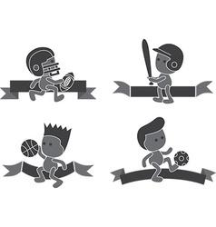 Athlete vector image