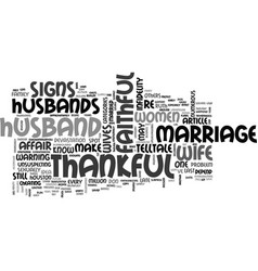Be thankful for a faithful husband text word vector